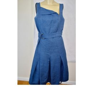 Authentic Akris Punto Blue Silk Dress 8